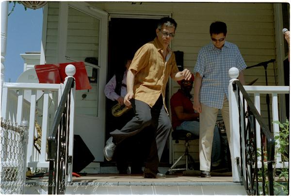 tap dancers somerville porchfest